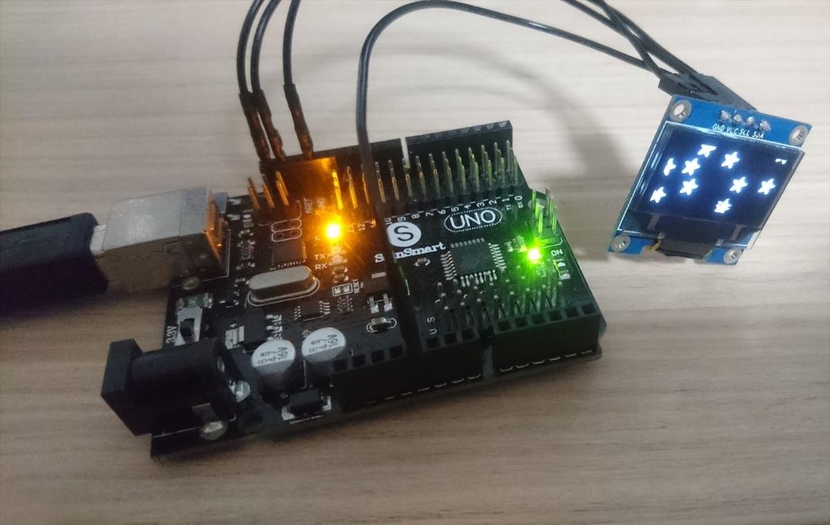 ArduinoでOLED (128×64)を使う