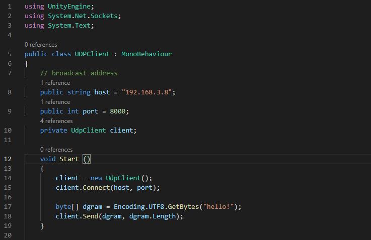 Unity(Windows)からRaspberry Piへデータ送信